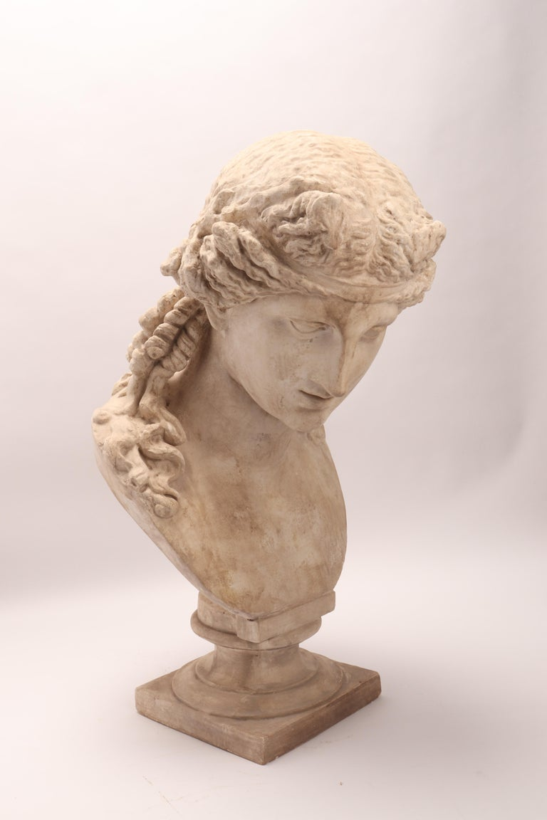 Late 19th Century Plaster Cast the Head of Arianna, Italy, 1890 For Sale