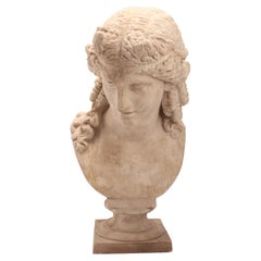 A Plaster Cast the Head of Arianna, Italy 1890