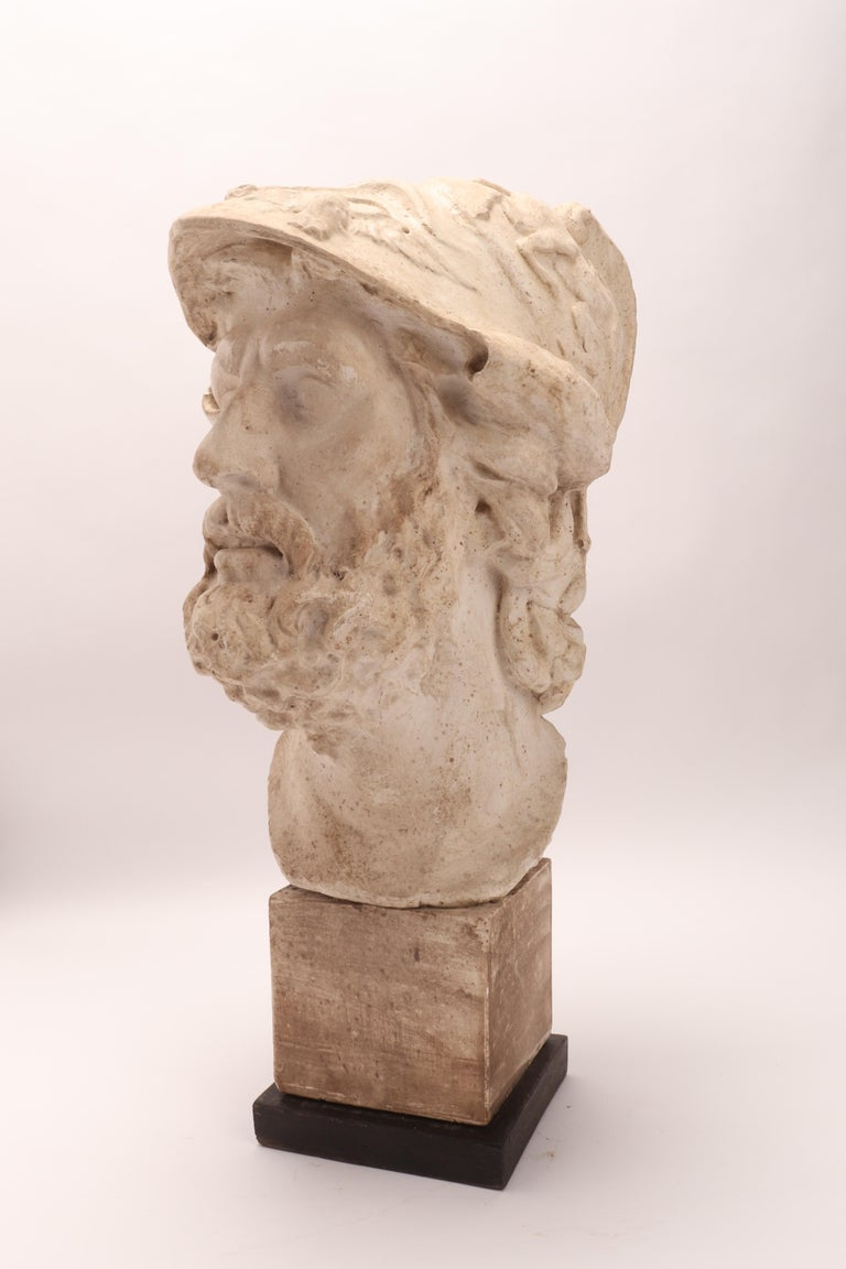 Plaster Cast: the Head of Menelao, Italy, 1890 For Sale 5