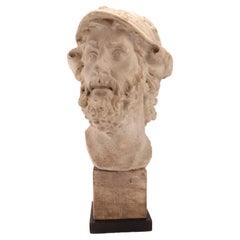 Plaster Cast the Head of Menelao, Italy, 1890