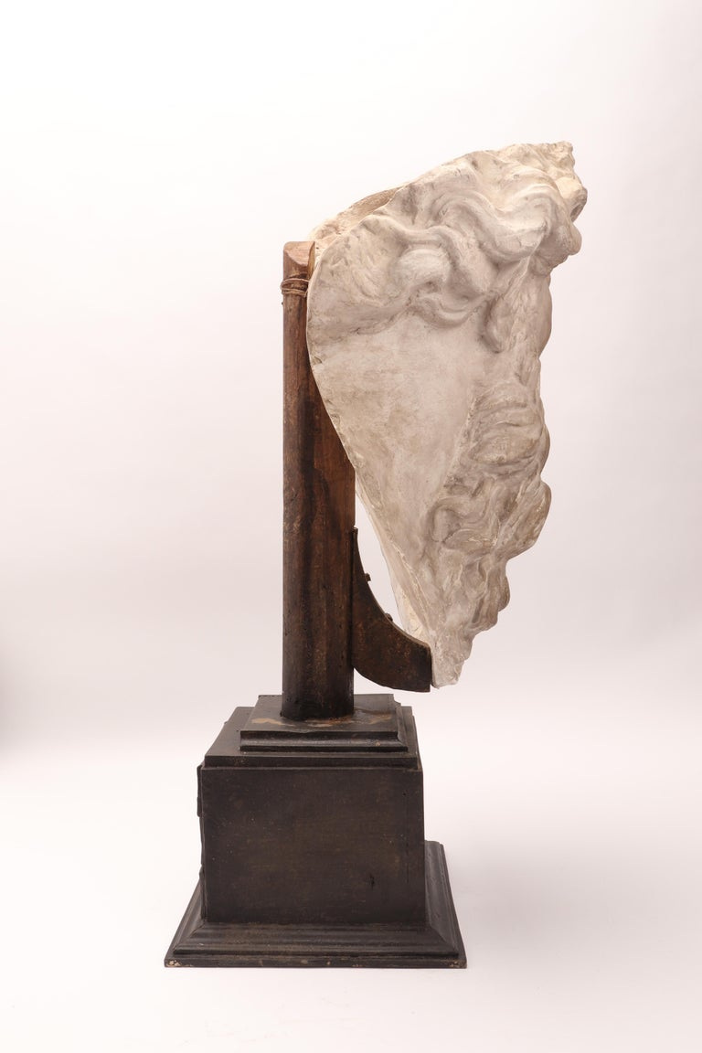 Plaster Cast the Head of Neptune, Italy, 1890 For Sale 5