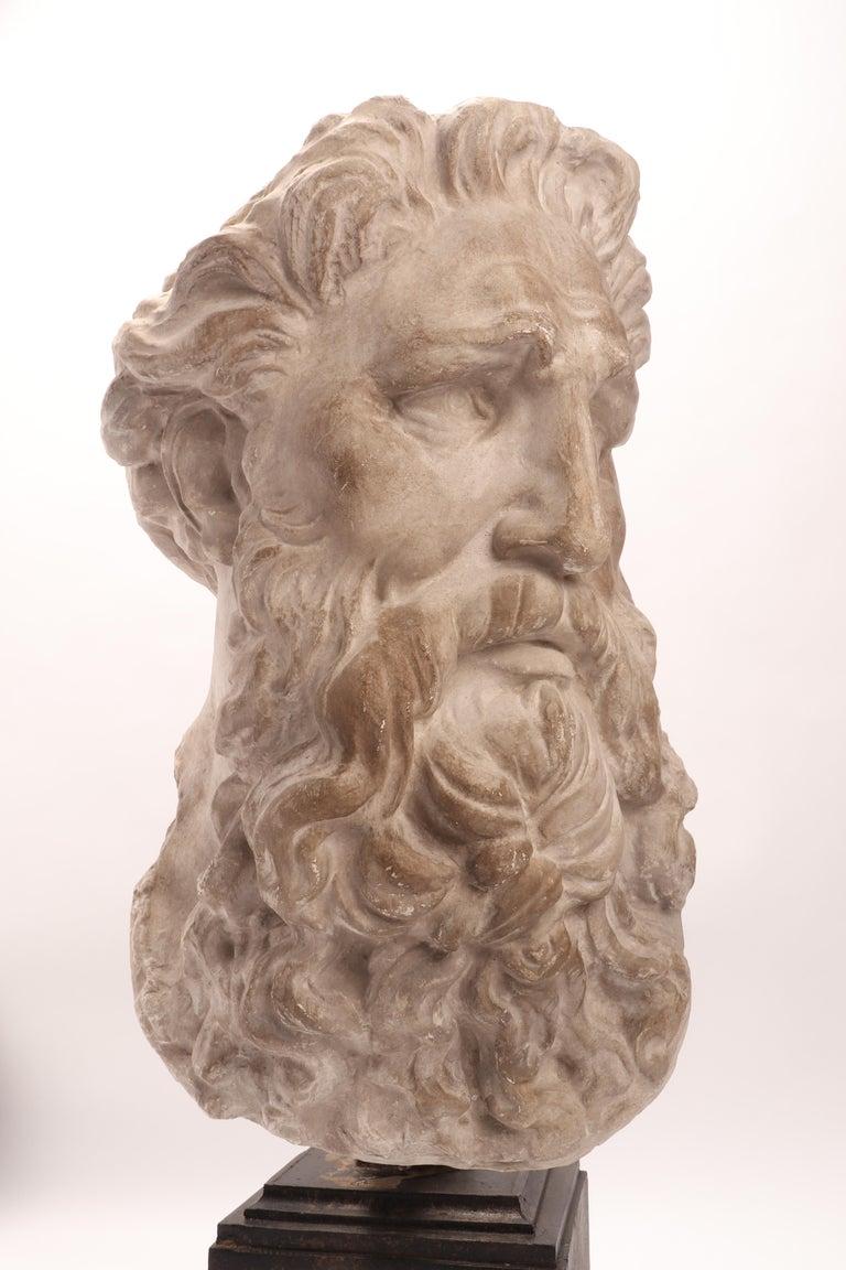 Italian Plaster Cast the Head of Neptune, Italy, 1890 For Sale