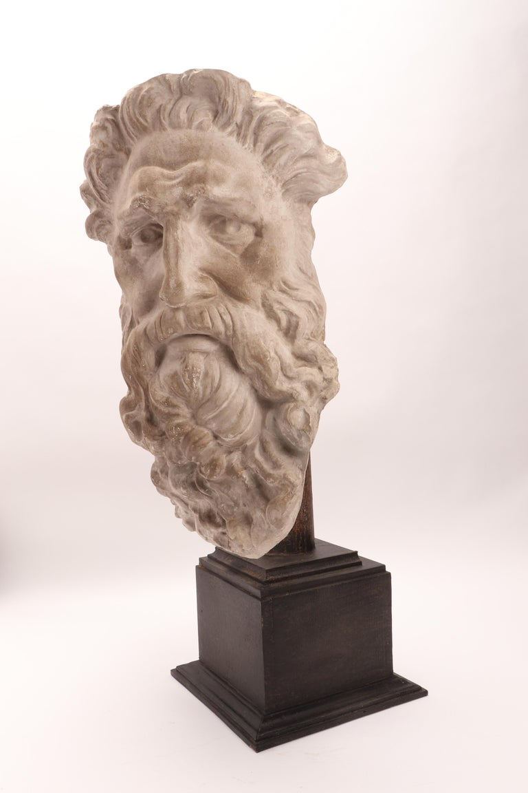 Plaster Cast the Head of Neptune, Italy, 1890 In Excellent Condition For Sale In Milan, IT