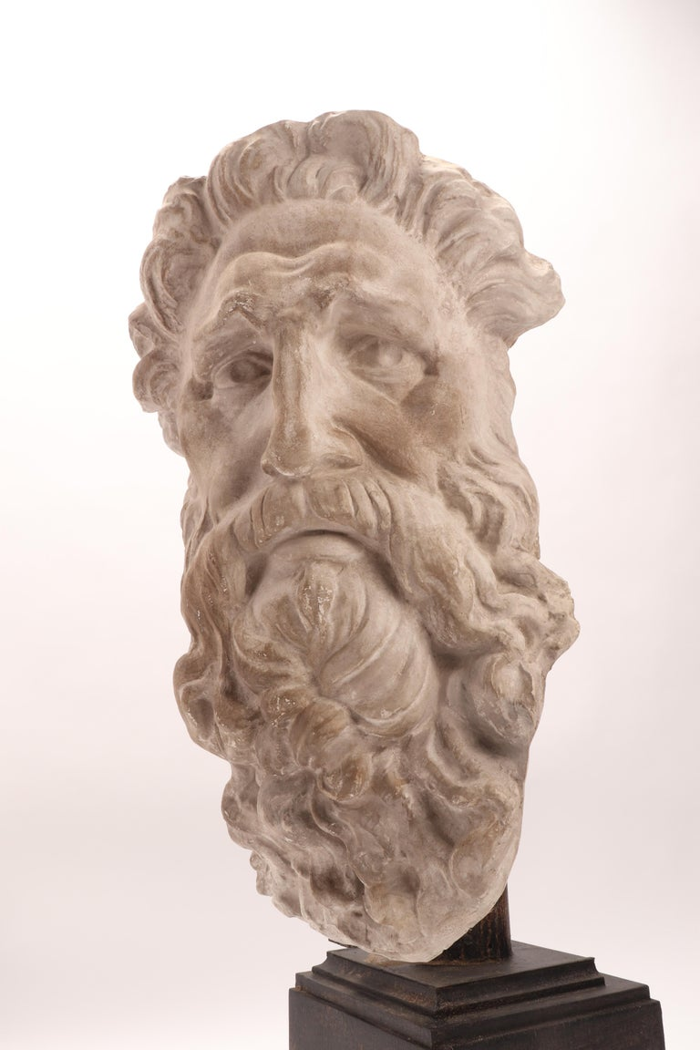 Late 19th Century Plaster Cast the Head of Neptune, Italy, 1890 For Sale