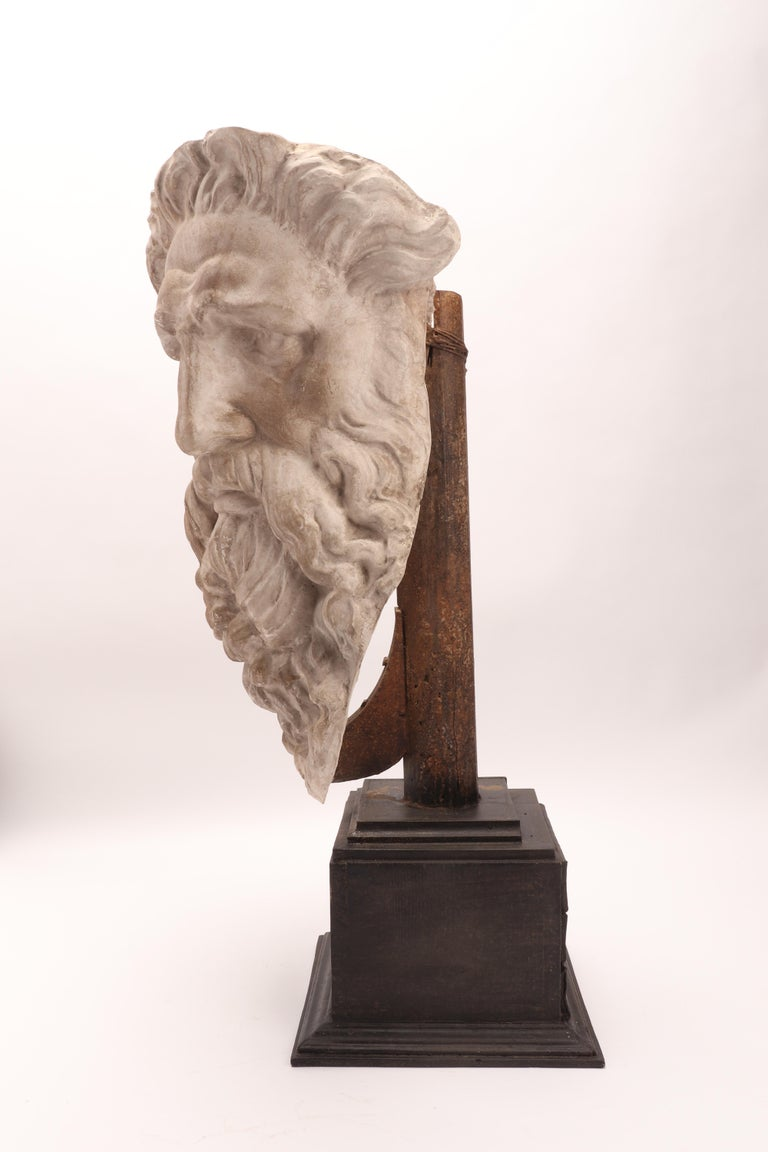 Plaster Cast the Head of Neptune, Italy, 1890 For Sale 2