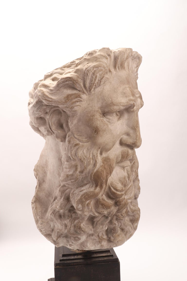 Plaster Cast the Head of Neptune, Italy, 1890 For Sale 4
