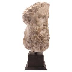 Plaster Cast, the Head of Neptune, Italy 1890