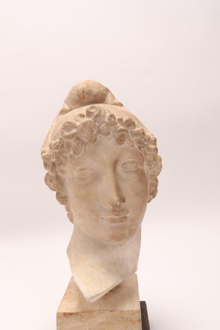 Italian Plaster Cast: the Head of Paride, Italy, 1890 For Sale
