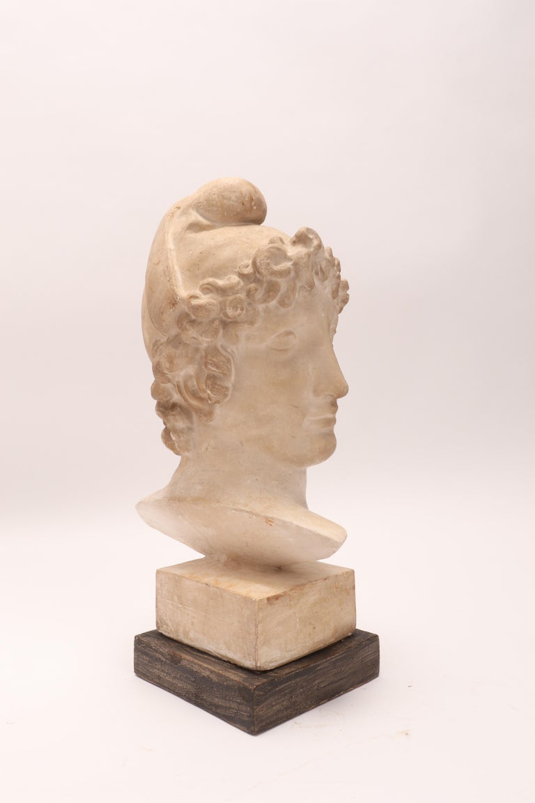 Plaster Cast: the Head of Paride, Italy, 1890 In Excellent Condition For Sale In Milan, IT