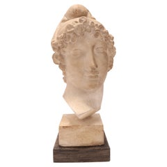 A Plaster Cast the Head of Paride, Italy 1890