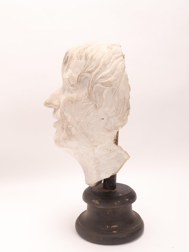 Late 19th Century Plaster Cast: the Head of Seneca, Italy 1890 For Sale