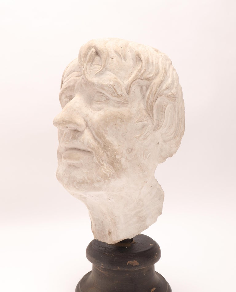 Plaster Cast: the Head of Seneca, Italy 1890 For Sale 1
