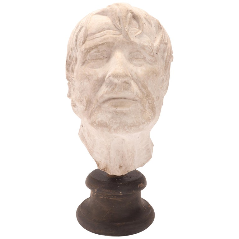 Plaster Cast: the Head of Seneca, Italy 1890 For Sale