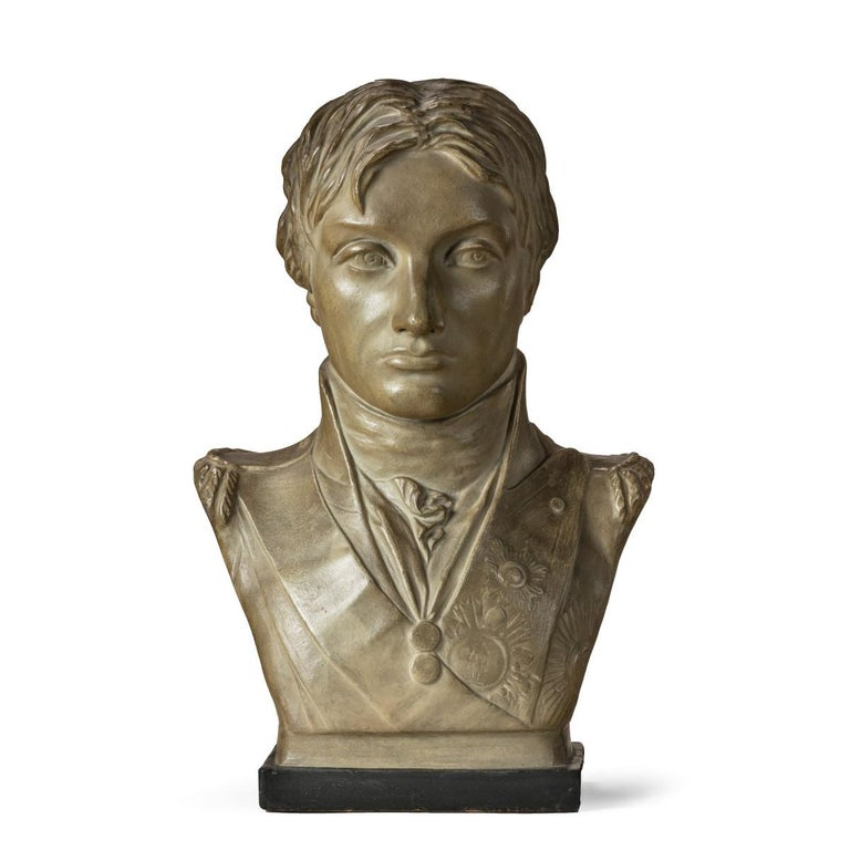 Plaster Portrait Bust of Lord Nelson after Anne Seymour Damer, England, 1802 For Sale 5