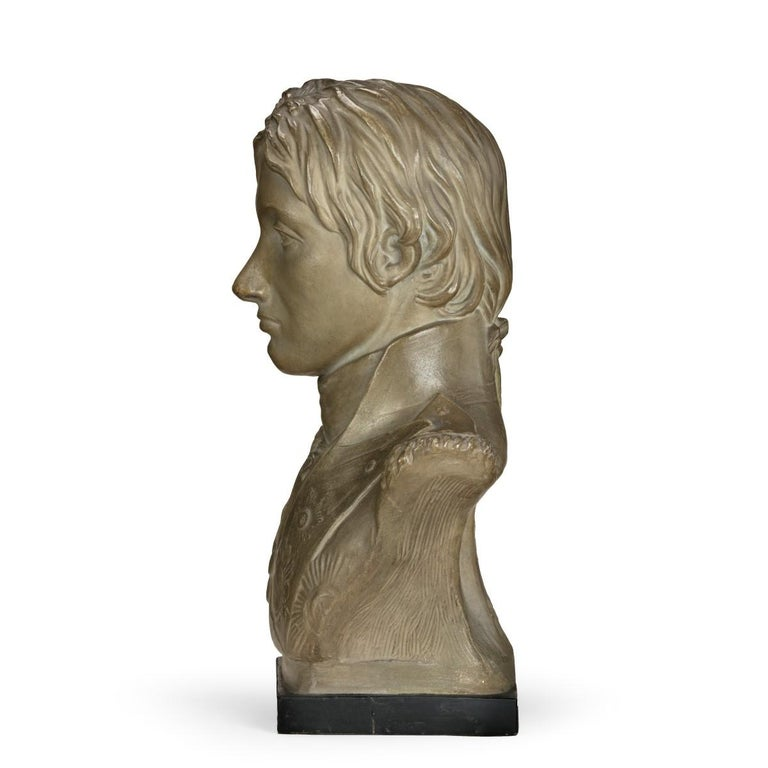 English Plaster Portrait Bust of Lord Nelson after Anne Seymour Damer, England, 1802 For Sale