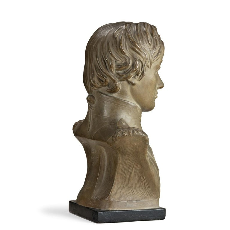 Plaster Portrait Bust of Lord Nelson after Anne Seymour Damer, England, 1802 For Sale 1