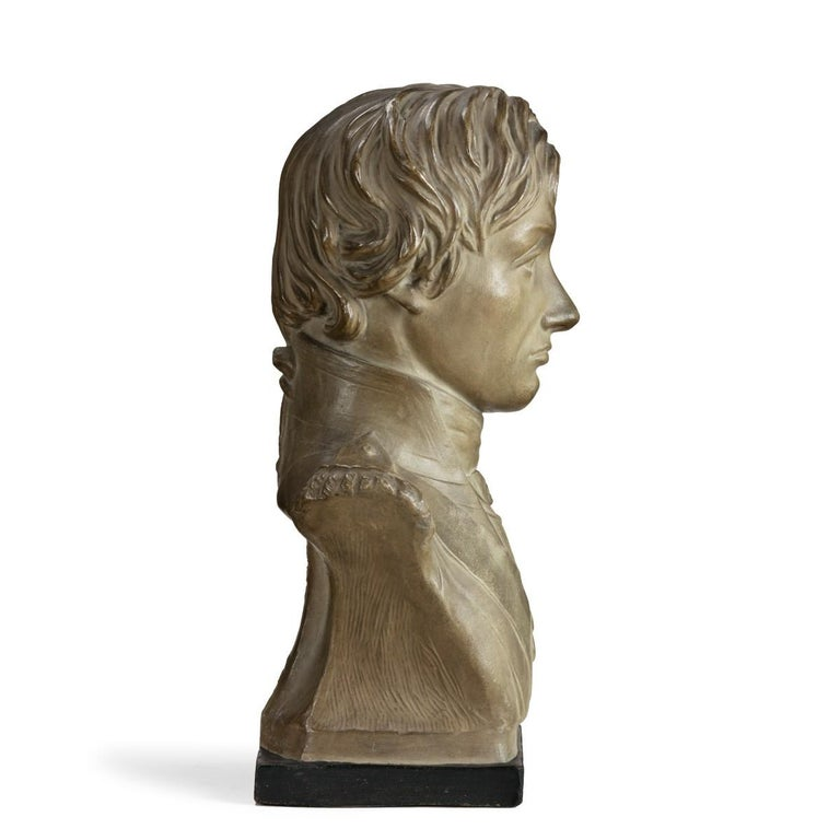 Plaster Portrait Bust of Lord Nelson after Anne Seymour Damer, England, 1802 For Sale 2