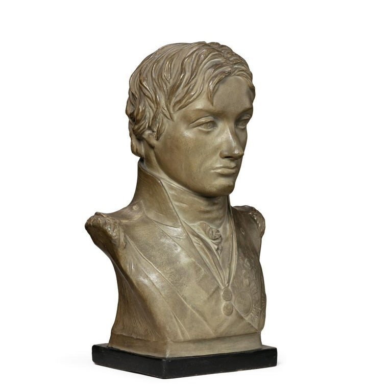 Plaster Portrait Bust of Lord Nelson after Anne Seymour Damer, England, 1802 For Sale 3