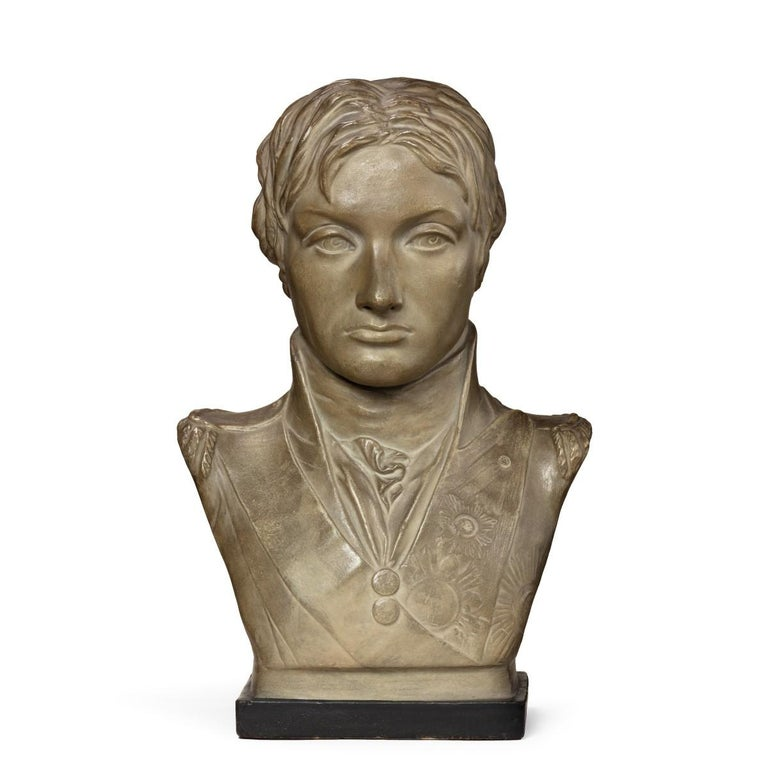Plaster Portrait Bust of Lord Nelson after Anne Seymour Damer, England, 1802 For Sale 4