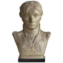 Plaster Portrait Bust of Lord Nelson after Anne Seymour Damer, England, 1802