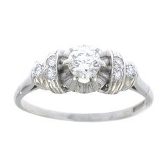 Platinum and Diamond Dress Ring