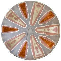 Purple/Mauve Colorway Mandarin Circular Fused Glass Plate