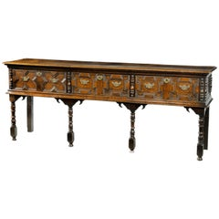 Quite Exceptional Late 17th Century Oak Dresser Base