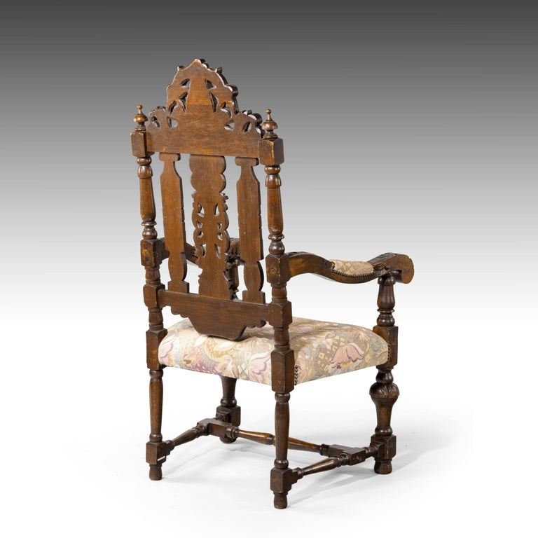 Quite Exceptional Set of 6 '4+2' 17th Century Style Oak Chairs For Sale 11