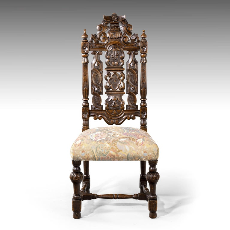 Quite Exceptional Set of 6 '4+2' 17th Century Style Oak Chairs For Sale 13