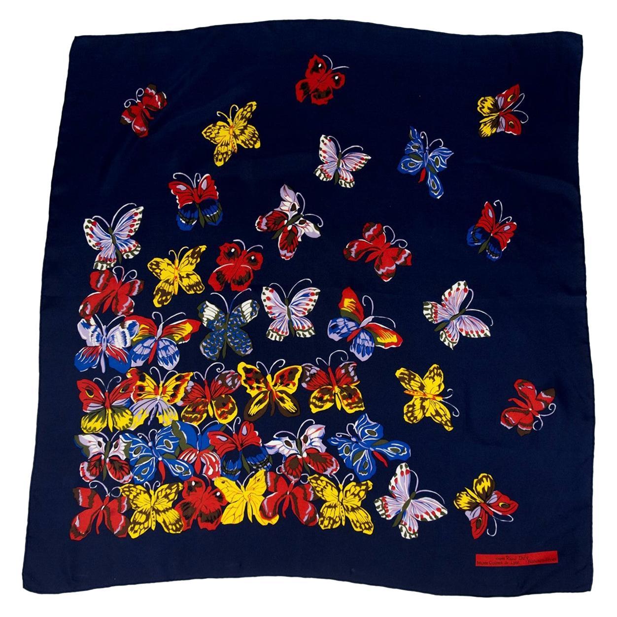 A Raoul Dufy silk square, Bianchini-Férier Circa 1990/2000