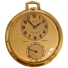 Rare 18k Gold Rolex Observatory Prince Imperial Dress Pocket Watch, circa 1950s