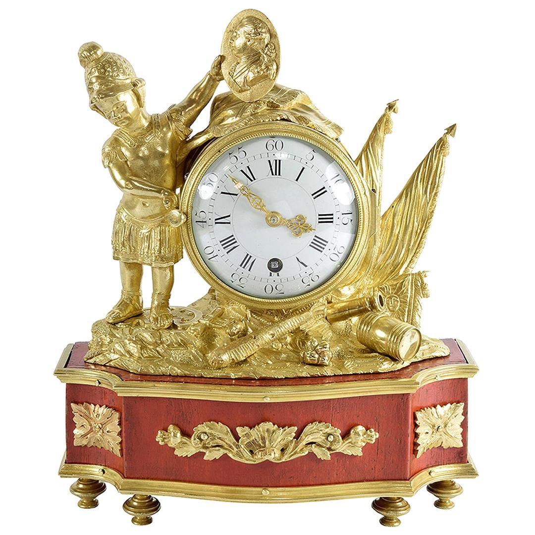 Rare 18th Century Louis XVI Period Small Clock