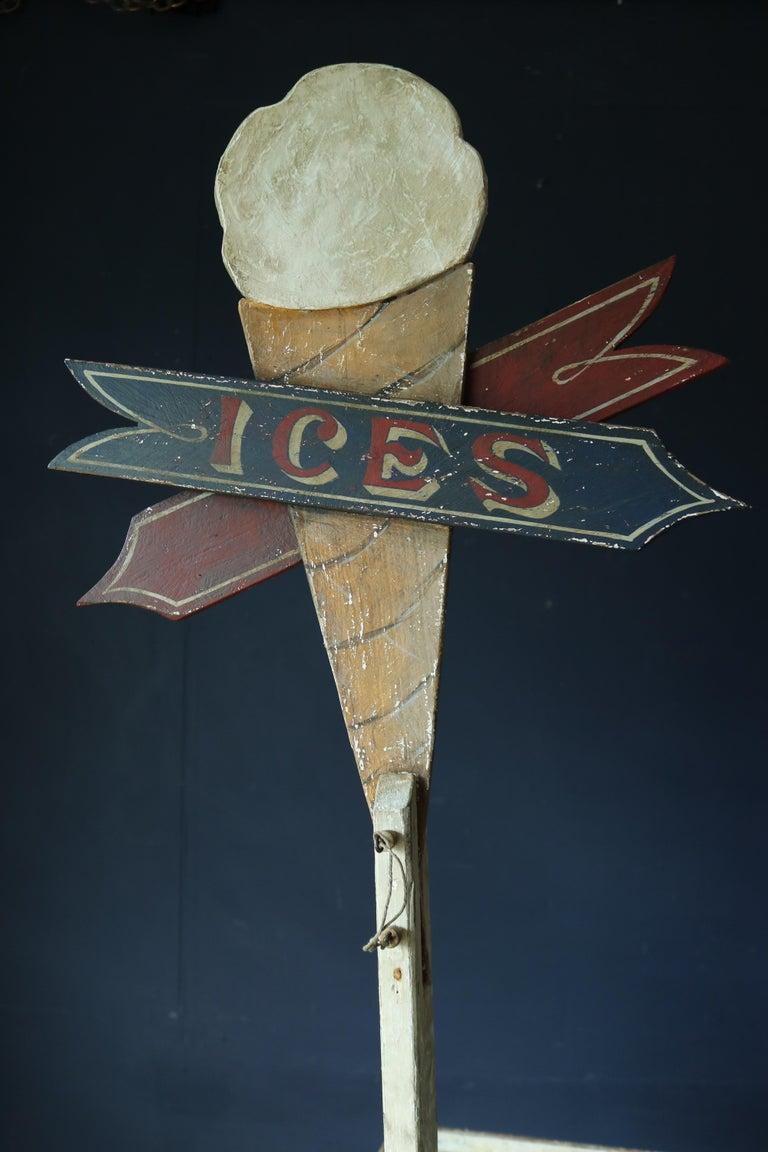 Rare 19th Century Ice Cream Cart For Sale 3