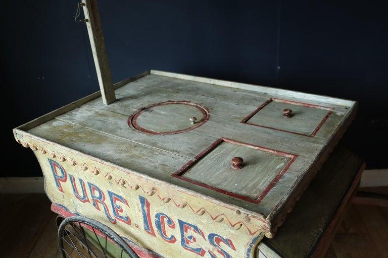 Rare 19th Century Ice Cream Cart For Sale 4