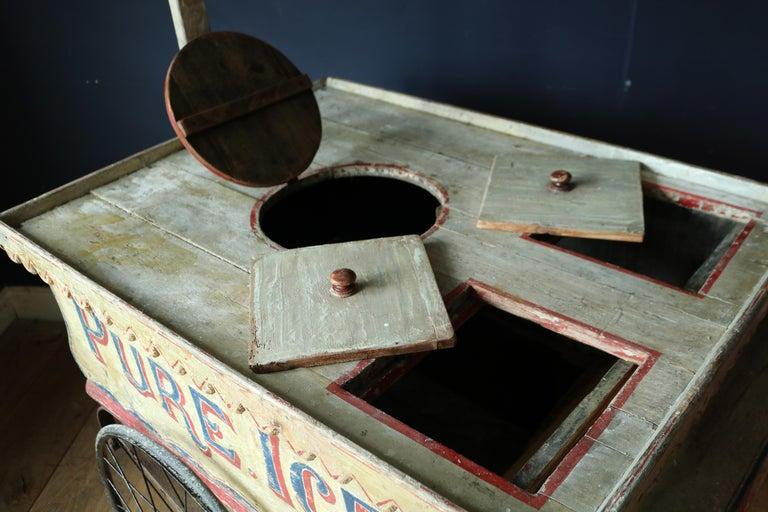 Rare 19th Century Ice Cream Cart For Sale 5