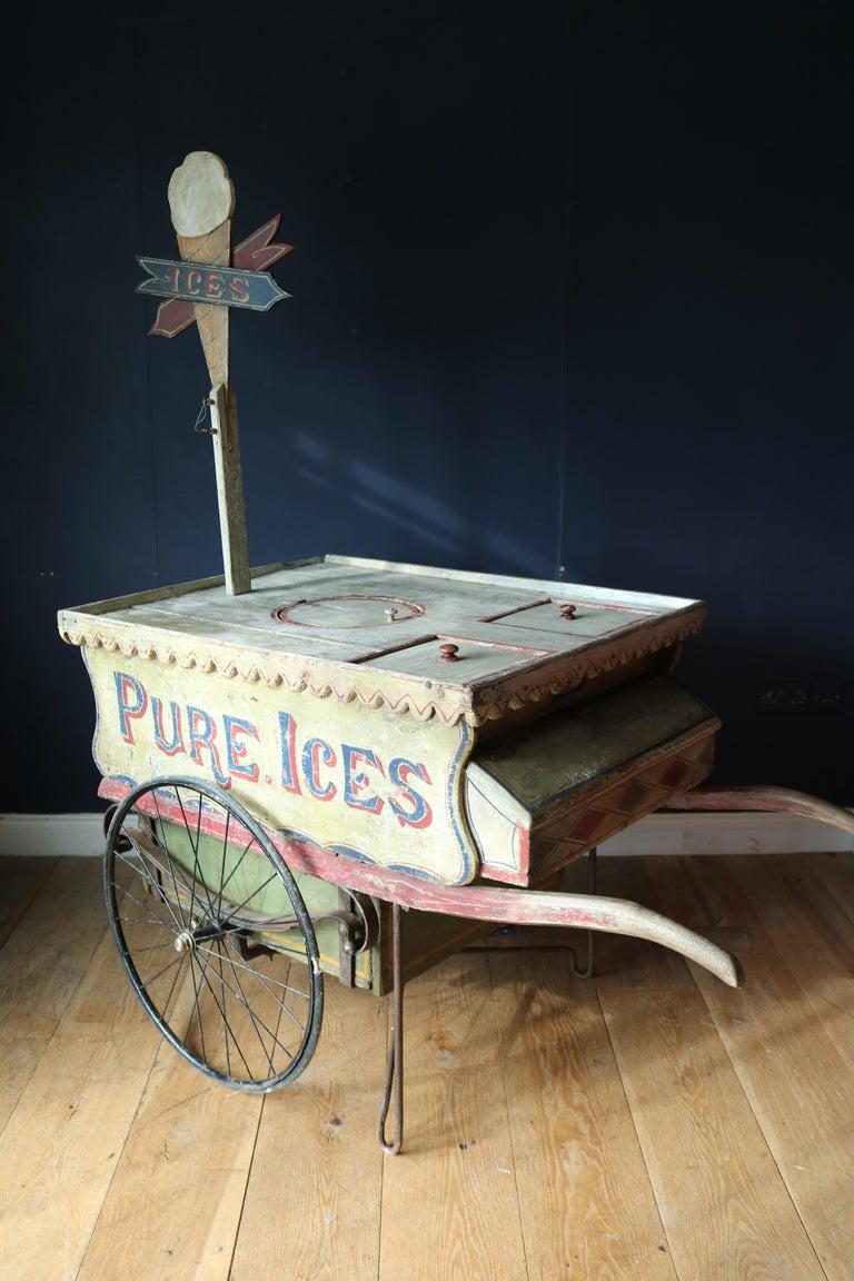 Rare 19th Century Ice Cream Cart For Sale 6