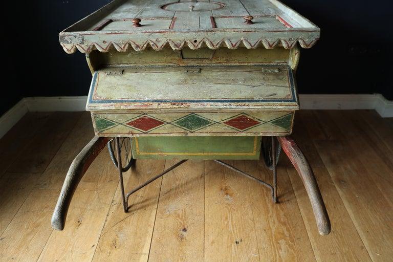 Rare 19th Century Ice Cream Cart For Sale 7