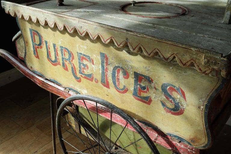 Rare 19th Century Ice Cream Cart For Sale 8
