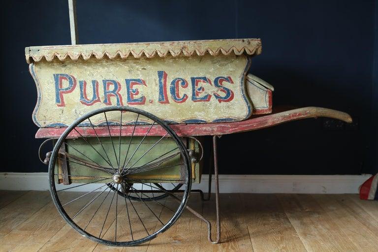 Victorian Rare 19th Century Ice Cream Cart For Sale