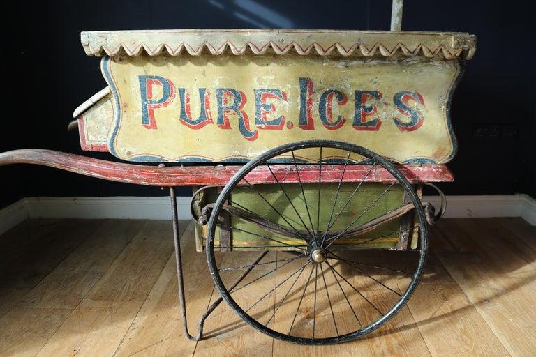 British Rare 19th Century Ice Cream Cart For Sale