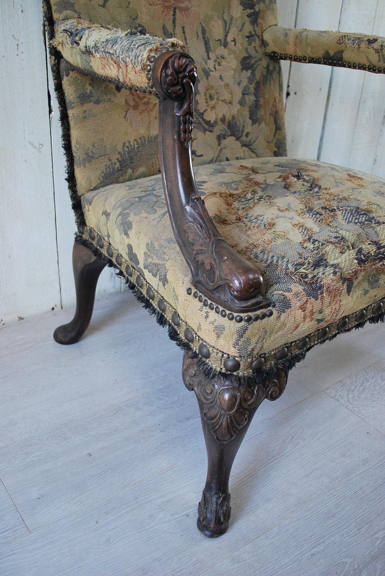Chippendale Rare American Gainsborough Chair For Sale
