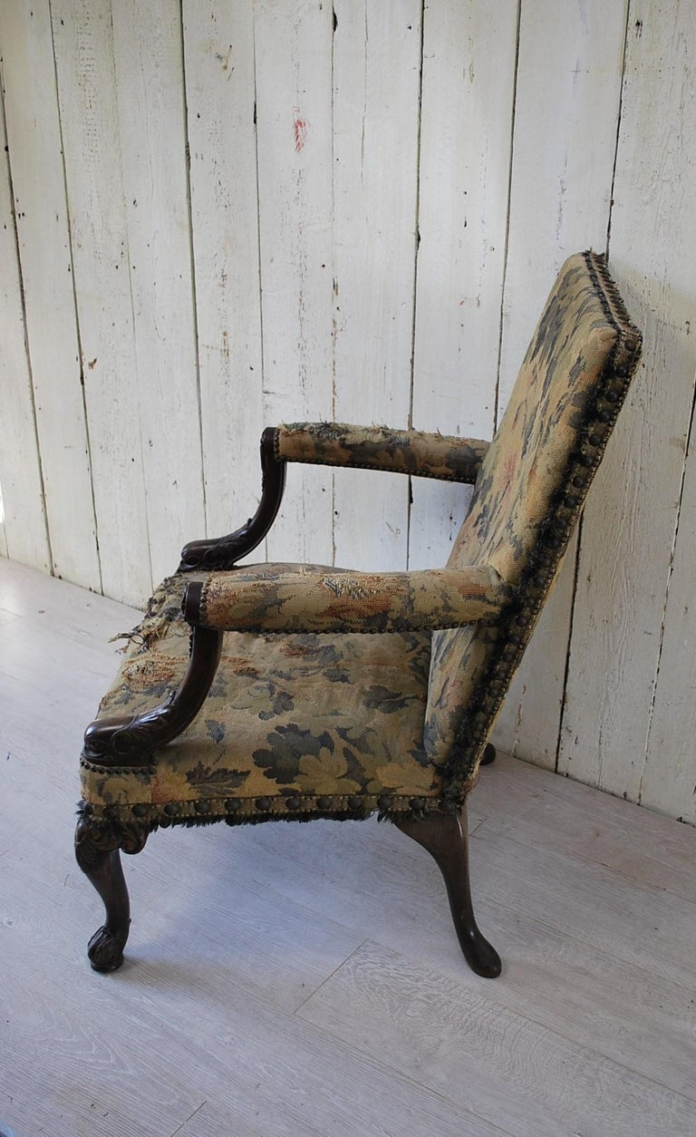 Rare American Gainsborough Chair In Fair Condition For Sale In Winchcombe, Gloucesteshire