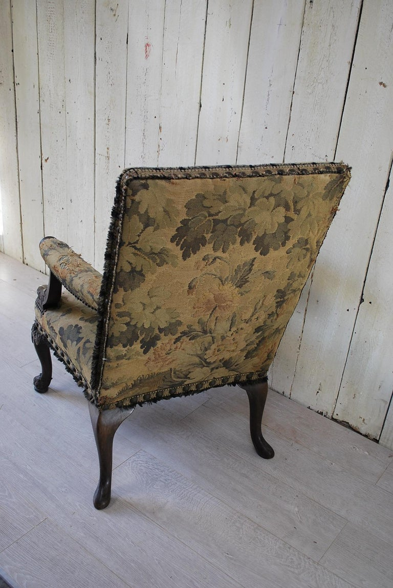 19th Century Rare American Gainsborough Chair For Sale