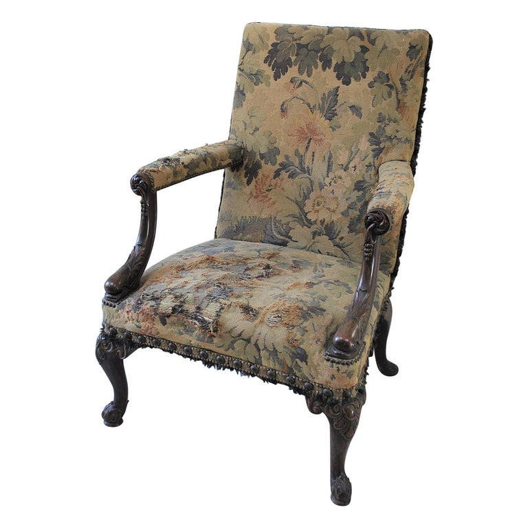 Rare American Gainsborough Chair For Sale