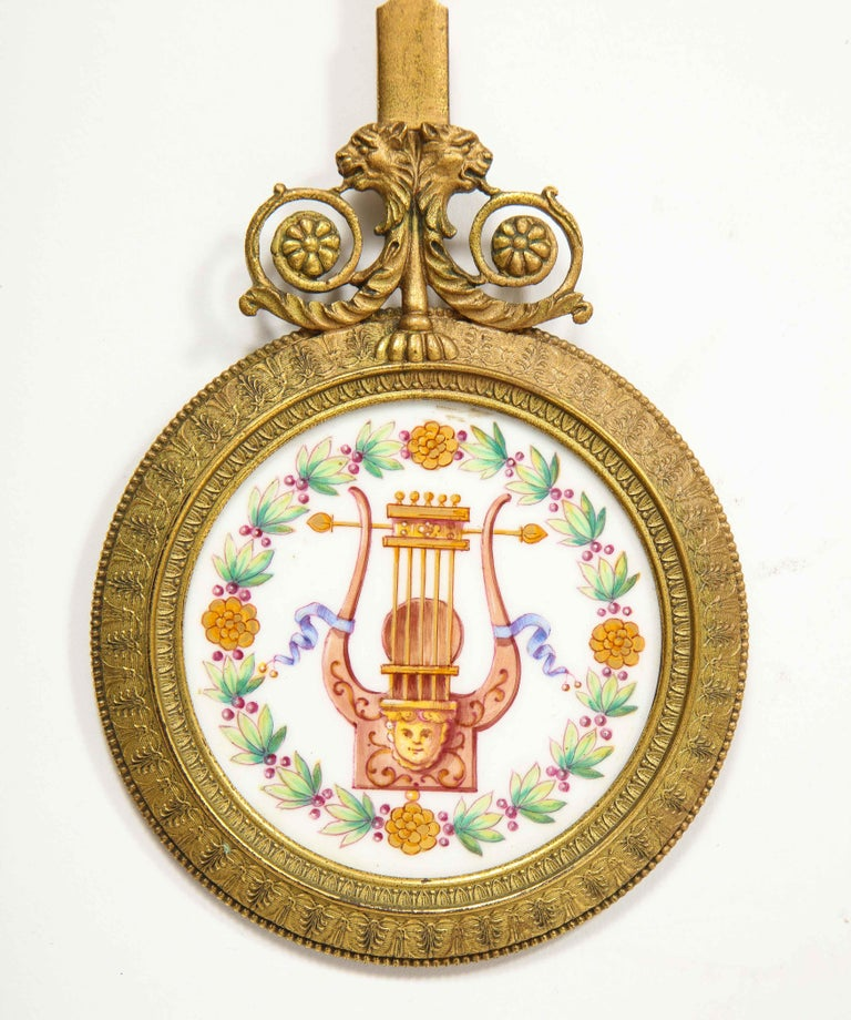 A Rare and Exquisite French Ormolu and Porcelain Clock, attributed to Deniere  For Sale 11