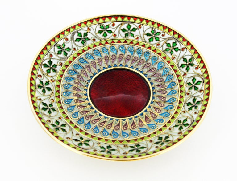 20th Century Rare and Fine Plique-à-jour Tea Cup and Plate by Marius Hammer For Sale