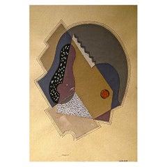 Rare Collage by Henri Nouveau, 1929