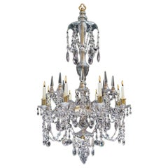 Rare Eight Light Russian Chandelier In Georgian Style