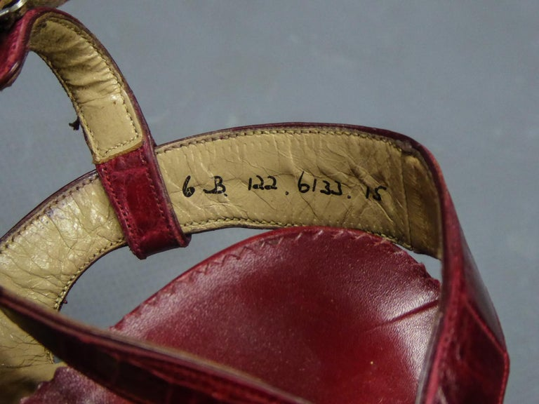 A Rare François Pinet Pair of Shoes in Leather Circa 1935  For Sale 5