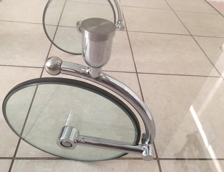 Late 20th Century Rare Glass Wheel Coffee Table by Fontana Arte, circa 1970s For Sale